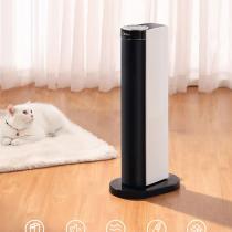 美的(Midea)取暖器/電暖器/電暖氣家用 遙控塔式立式搖頭速熱暖風機