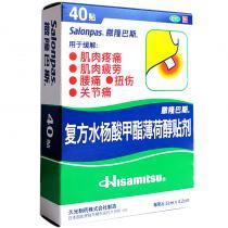 日本萨隆巴斯复方水杨酸甲酯薄荷醇贴剂40贴